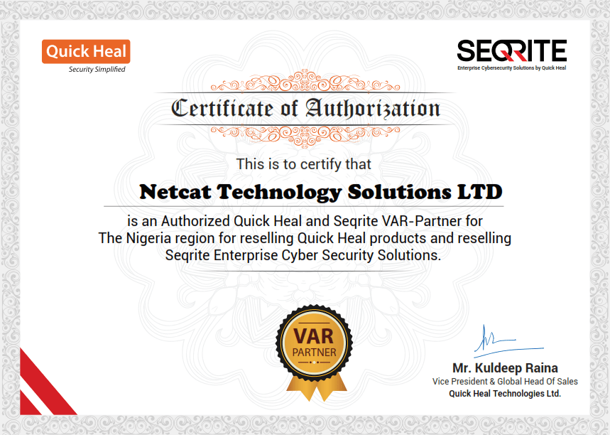 Seqrite end point security partners
