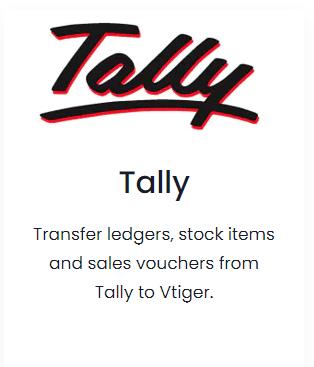 Vtiger integration Tally